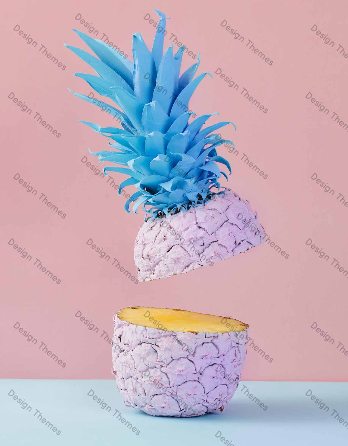 Surrealistic pineapple cut